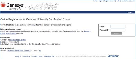 Genesys university training portal north america if you do not have an existing profile create one using the create new account link and follow the instructions below fandeluxe Image collections